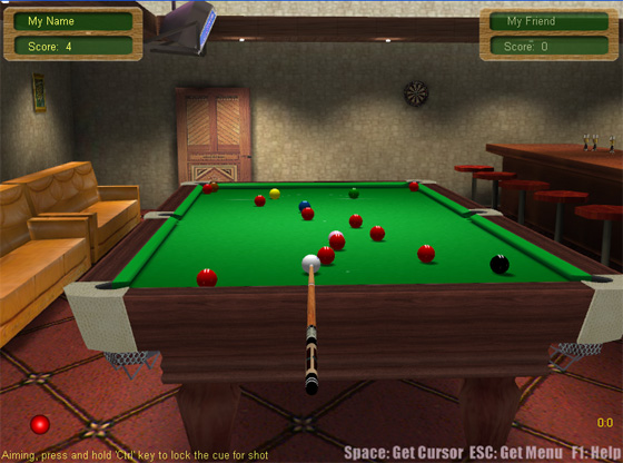 Snooker Game online screenshot